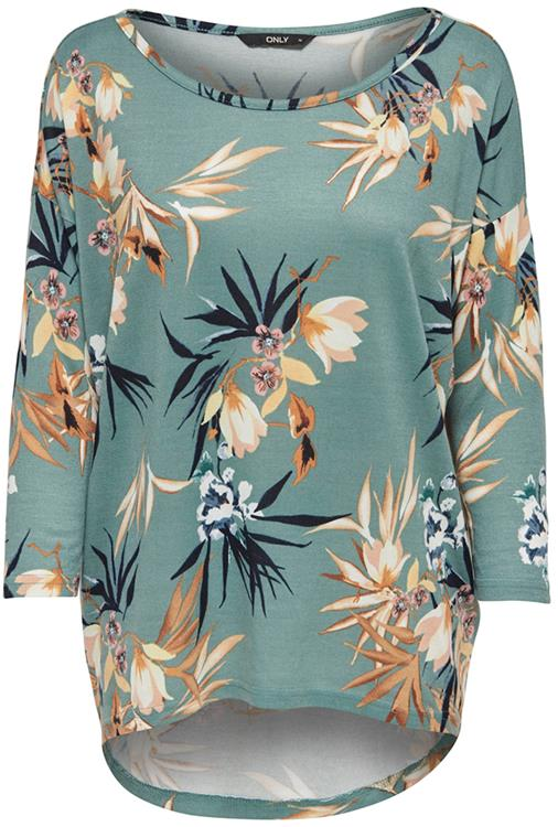 Onlelcos 4/5 aop top Chinois green/print