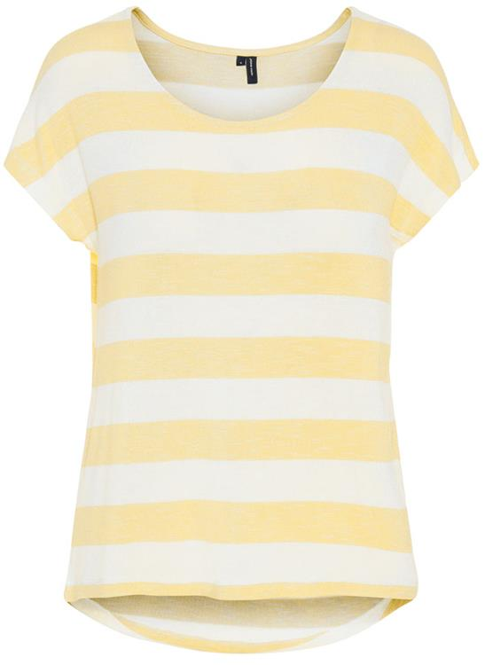 Vmwide stripe s/l top Yarrow/snow white