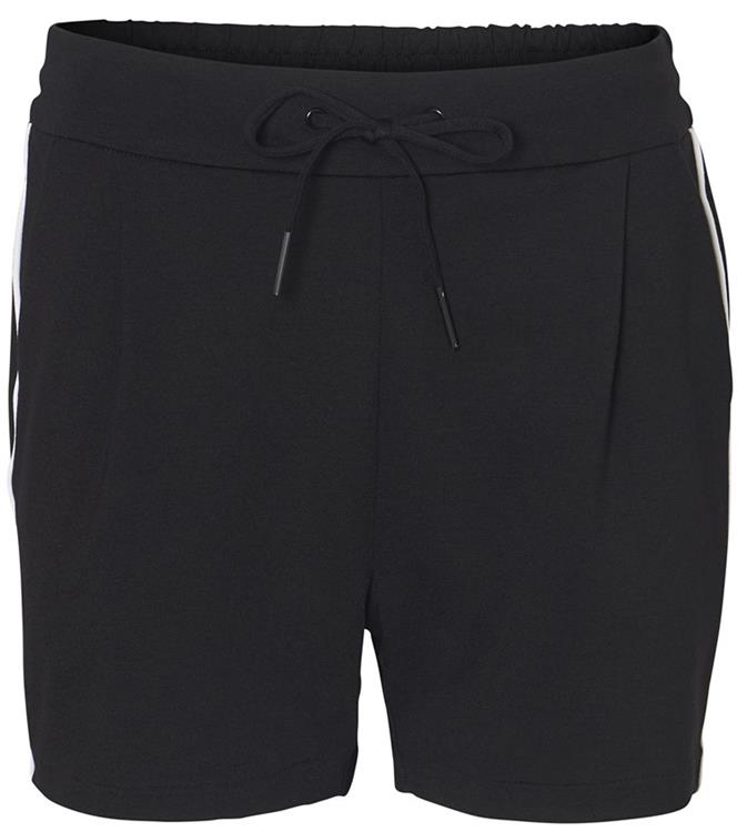 Vmeva mr loose piping shorts Black/snow white