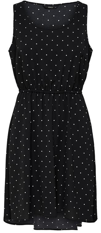 Onlflora sl dress Black/small cloud dancer dots