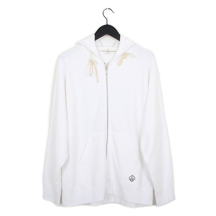 Golden Goose hooded zip melba white be golden