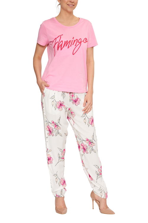 B.Young T-shirt Flamingo Organic Cotton Pink