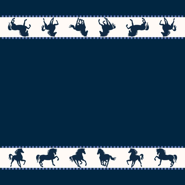 Elias Keukendoek Horse Blauw