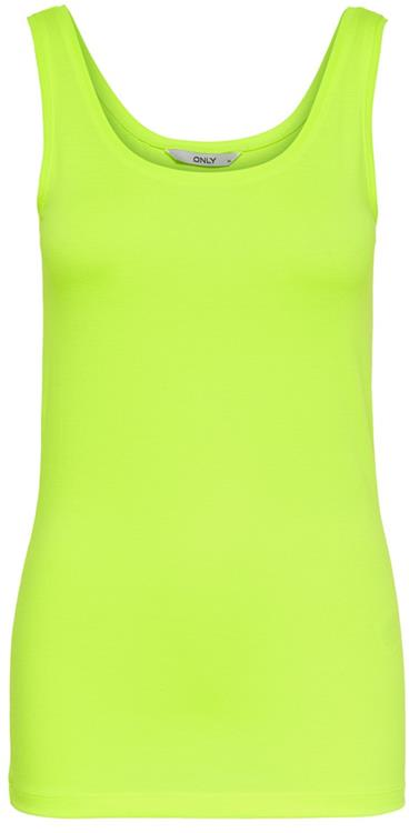 Onlneon live love tank top Neon yellow