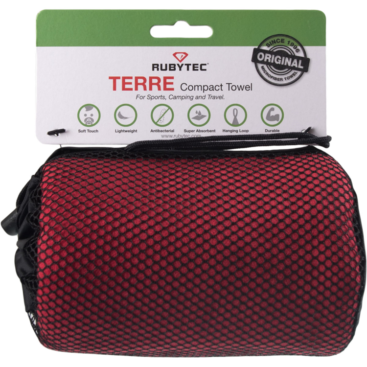 Rubytec Terre Compact Towel Red Xl