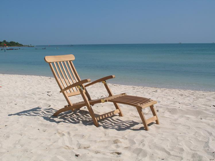 Beach 7 Java deckchair teakhout