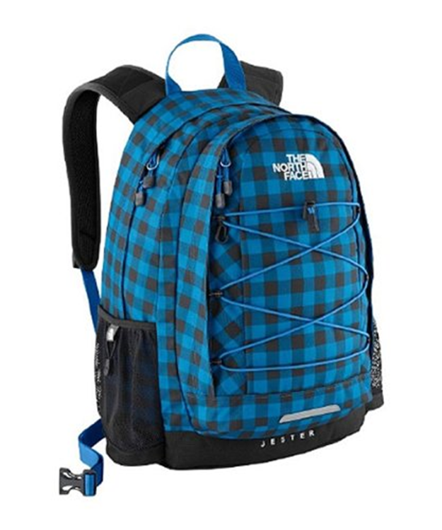 The North Face Jester Athens Blue Plaid Rugtas