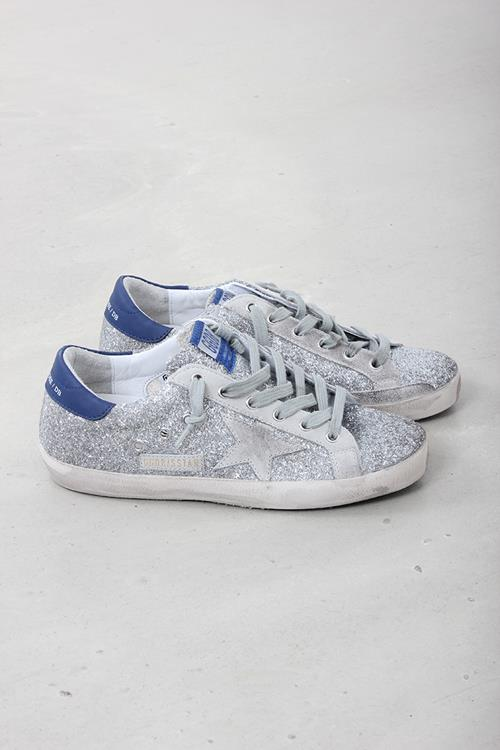 Golden Goose sneaker superstar silver glitter blue ice star