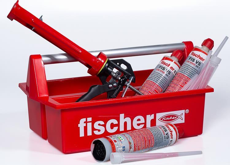 FISCHER ACTIE Mobibox | 3x FIS VS 300 T | 6x mengtuit FIS MR | 1x kitpistool KPM 3