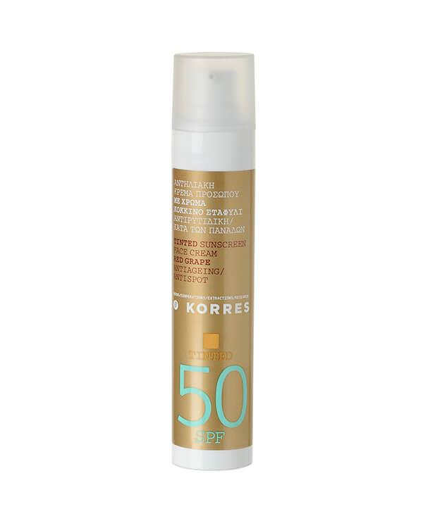 Korres - Red Grape Tinted Sunscreen Face Cream SPF50 - 50 ml