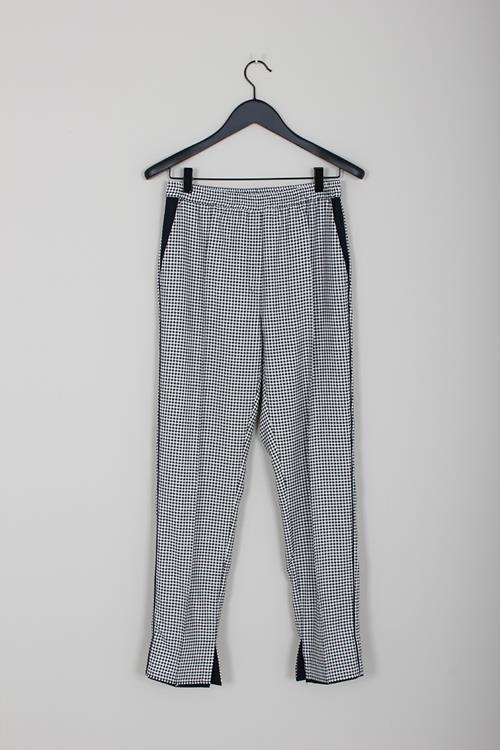 Golden Goose pant minori navy white check