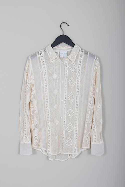 Forte Forte cotton and lace shirt avorio