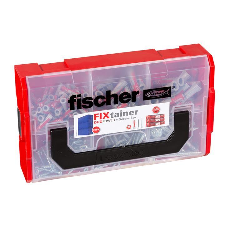 FISCHER FIXtainer Duopower pluggen + schroeven Box 210- delig