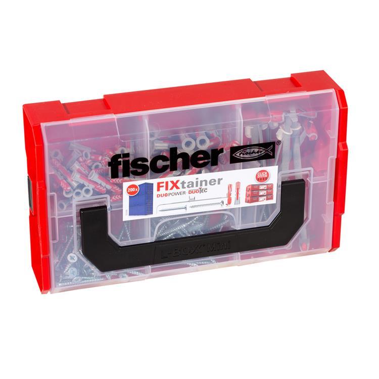 FISCHER FIXtainer Duopower/ Duotec pluggen + schroeven Box 200- delig