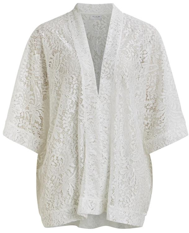Vilamar 3/4 sleeve cardigan Snow white