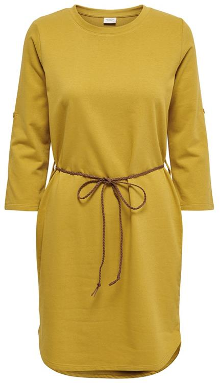 Jdyivy 3/4 belt dress Harvest gold