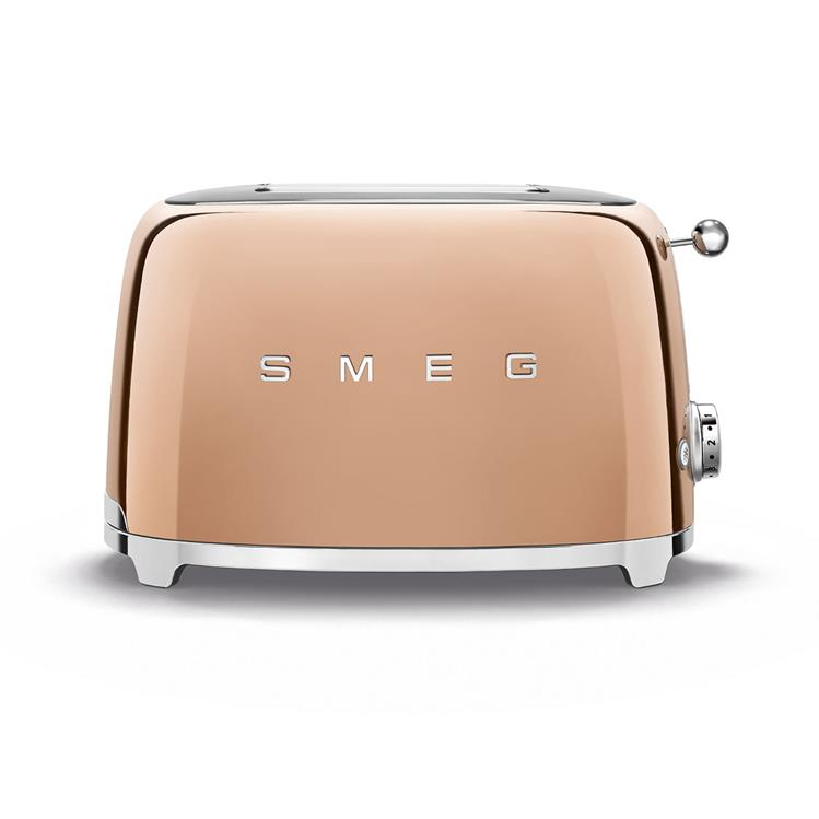 SMEG Broodrooster 2x2 TSF01RGEU - Rose goud