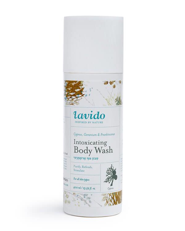 Lavido - Intoxicating Body Wash Cypress, Geranium & Frankincense - 400 ml