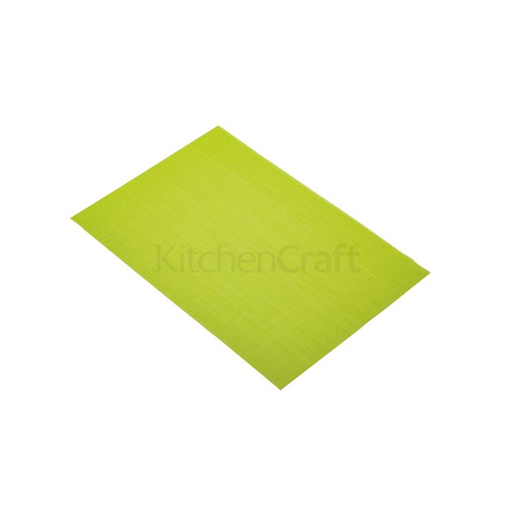 KitchenCraft placemat geweven 30x45 cm - groen
