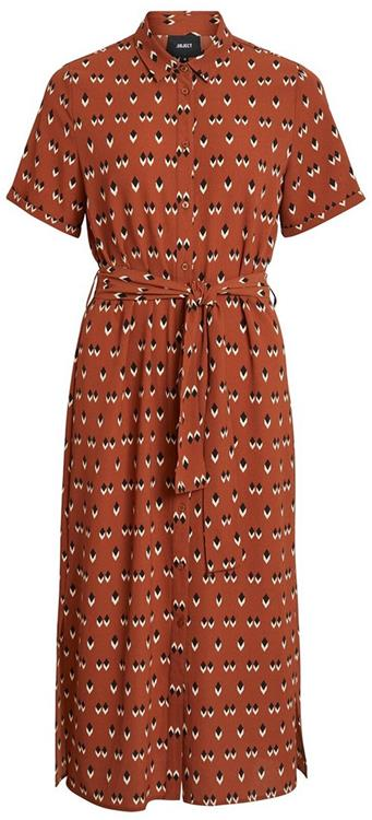 Objrory isabella s/s dress Brown/Patina