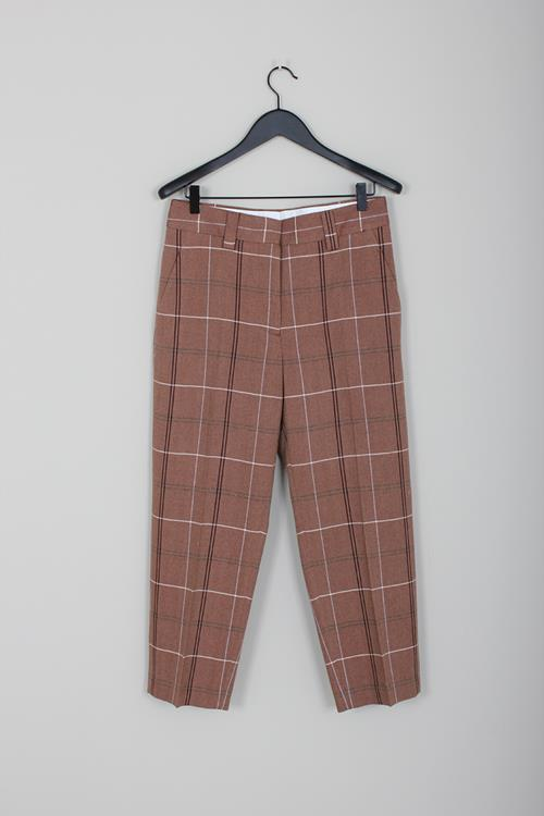 Acne Studios check trousers brown/white