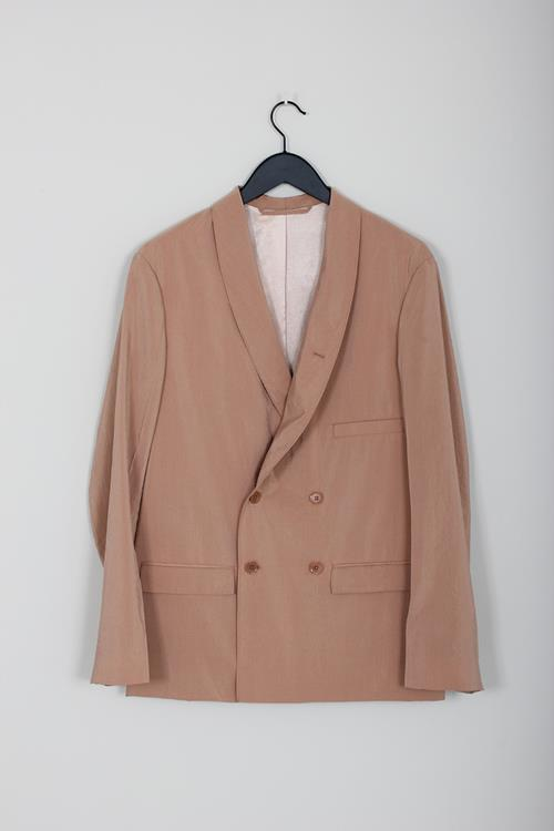 Lemaire double breasted jacket tan