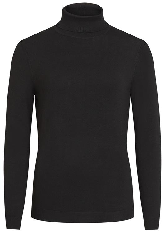 Vibolonia knit l/s rollneck top noos Black