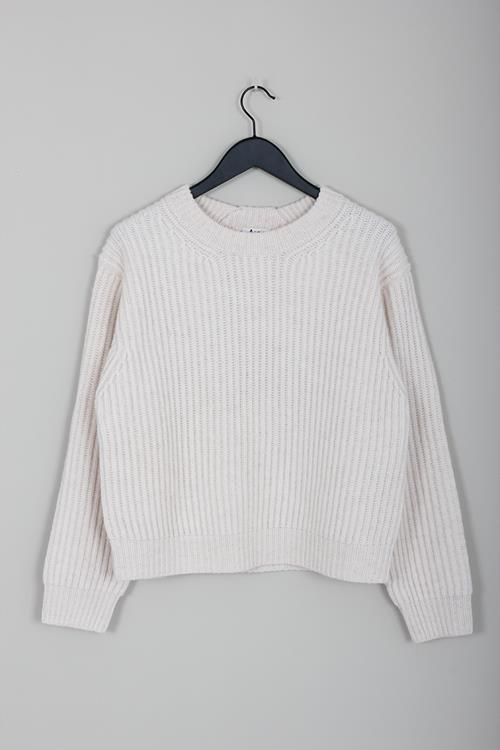 Acne Studios ribbed crewneck sweater off white