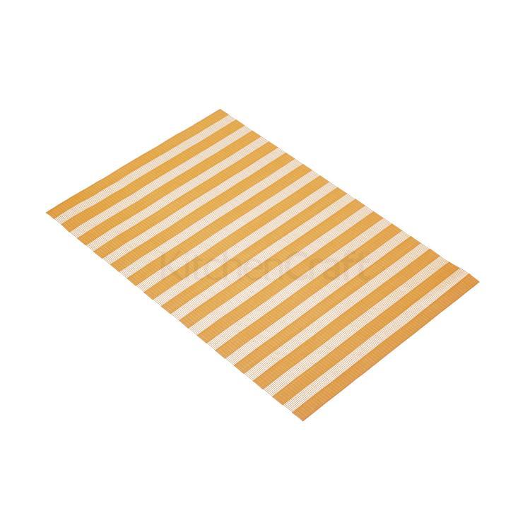 KitchenCraft placemat geweven 30x45 cm - oranje streep