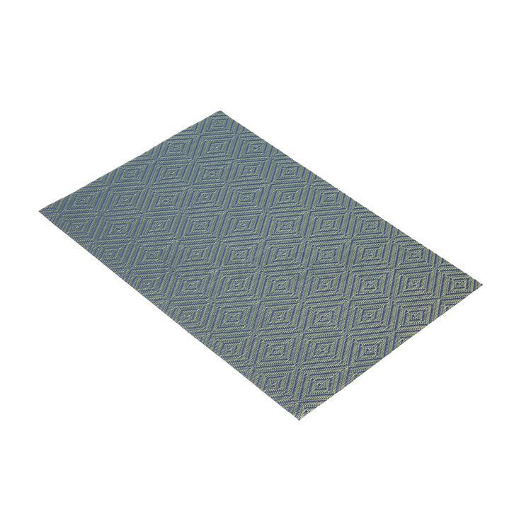 KitchenCraft placemat geweven 30x45 cm - blauw diamant