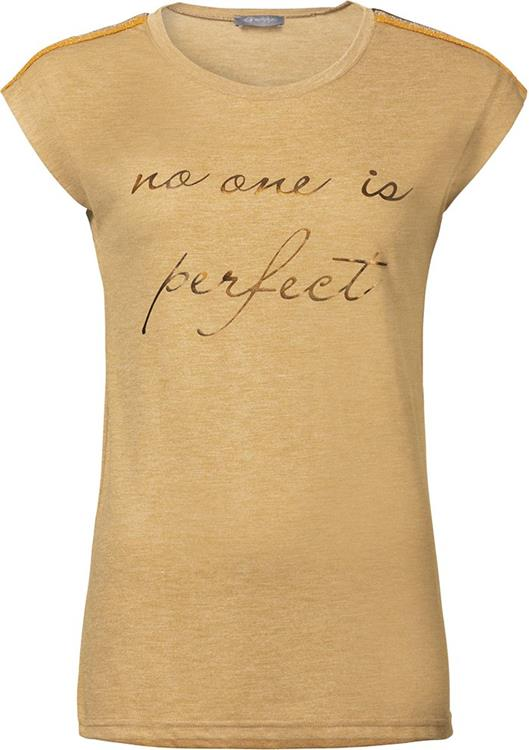 "Geisha T-shirt SL ""no one is perfect"" Camel"