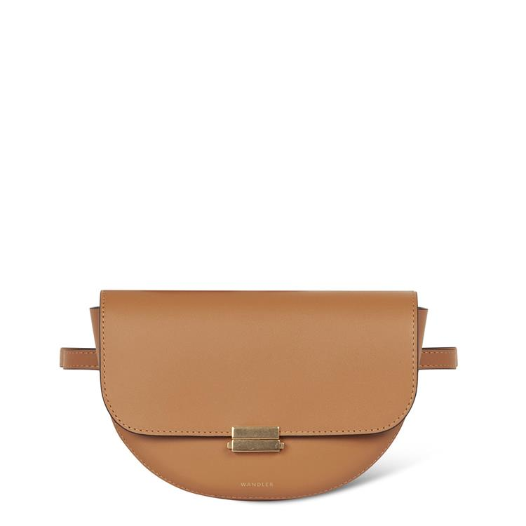 Wandler anna buckle belt bag big caramel