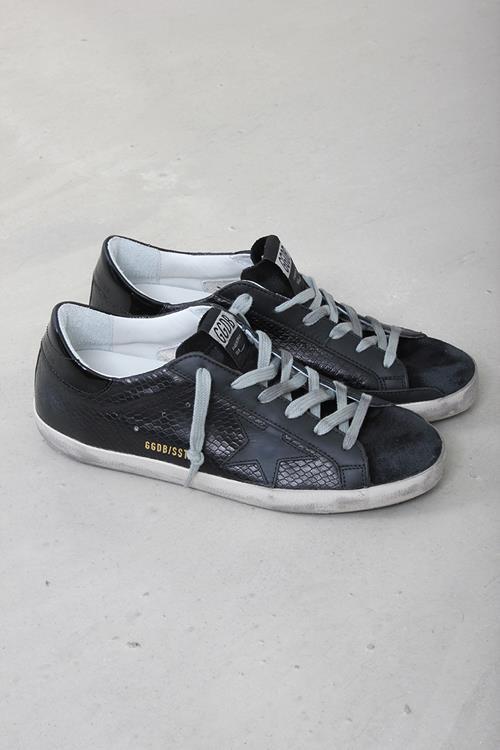 newest 36d2b d4778 Golden Goose sneaker superstar black snake leather