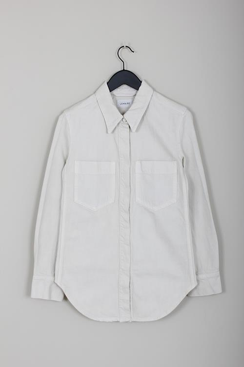 Lemaire fitted overshirt chalk