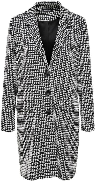 dy besty fall hounds tooth jacket knt Cloud dancer