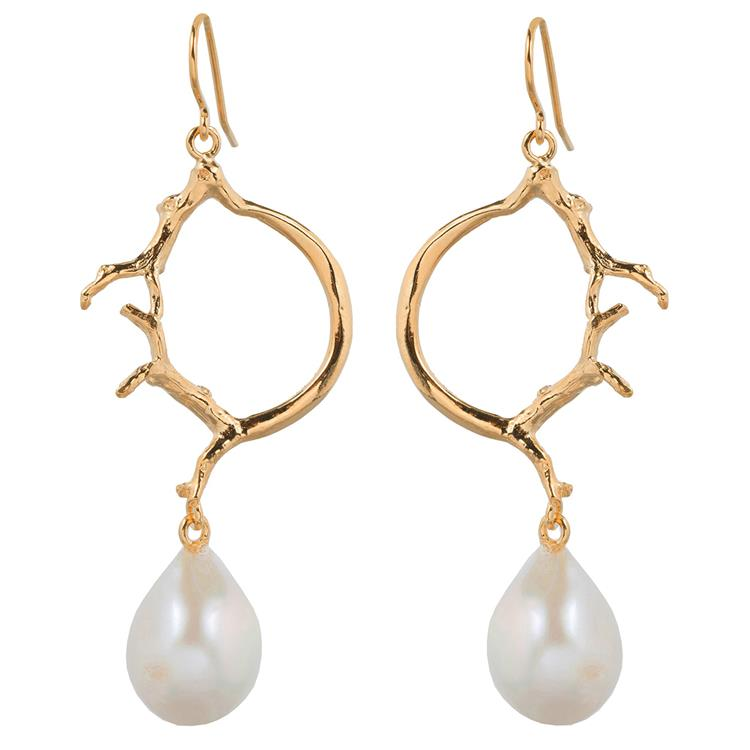 Wouters & Hendrix hook earrings with pearl