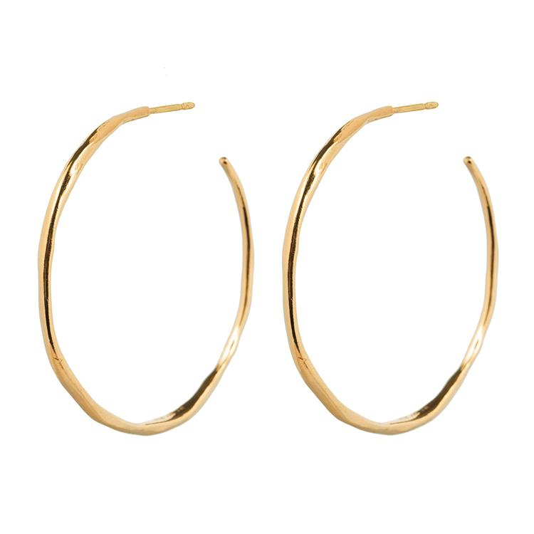 Wouters & Hendrix organic shaped hoop earrings