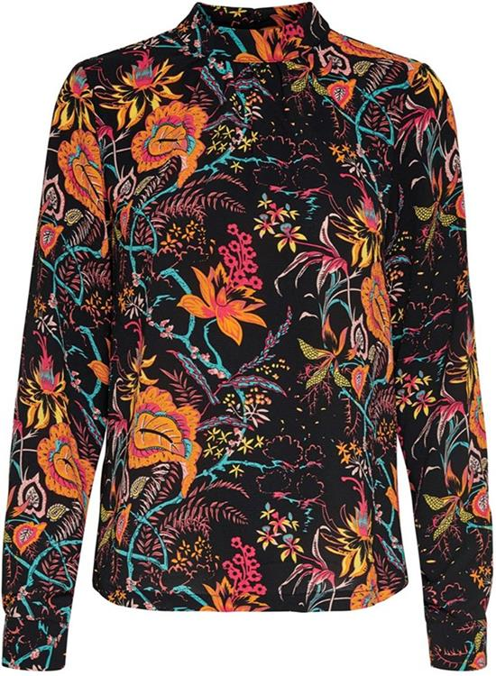 Onlnova aop l/s highneck top 8 wvn Black/flower paisly
