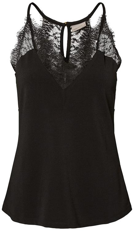 Vmmilla s/l lace top black
