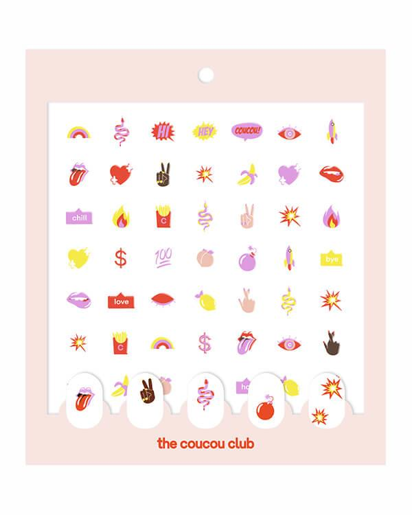 The Coucou Club - Coucou Nail Art: The Coucou Sheet - 2 st