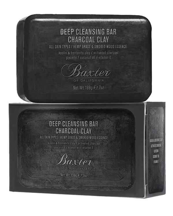 Baxter of California - Deep Cleansing Bar Charcoal Clay - 198 gr
