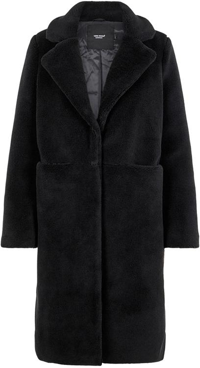vmholly long teddy jacket Black