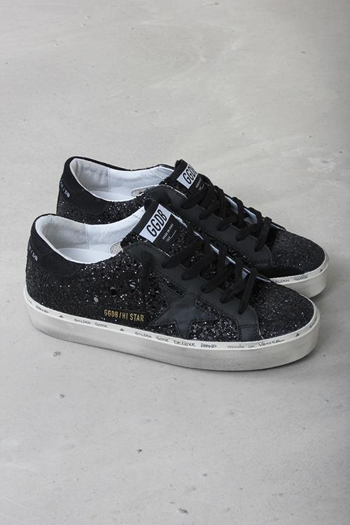 Golden Goose sneaker hi star black glitter
