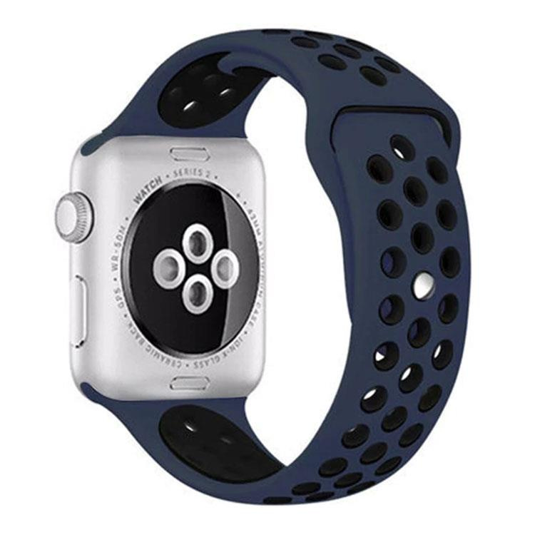 Apple watch sporthorlogeband blauw/zwart (42mm/44mm)