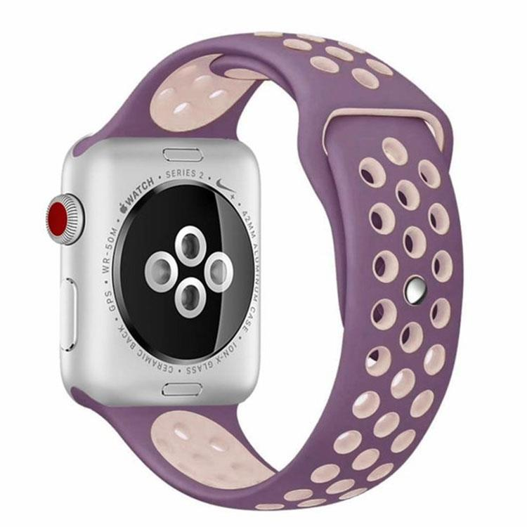 Apple watch sporthorlogeband paars/roze (42mm/44mm)