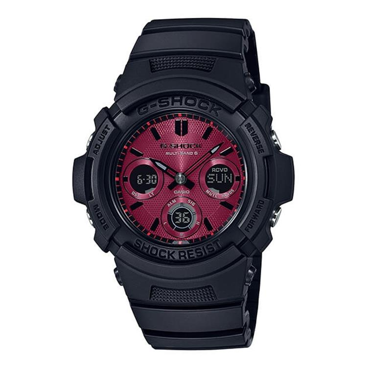"G-Shock AWG-M100SAR-1AER - Black and Red AR ""Adrenalin Red"" Series"
