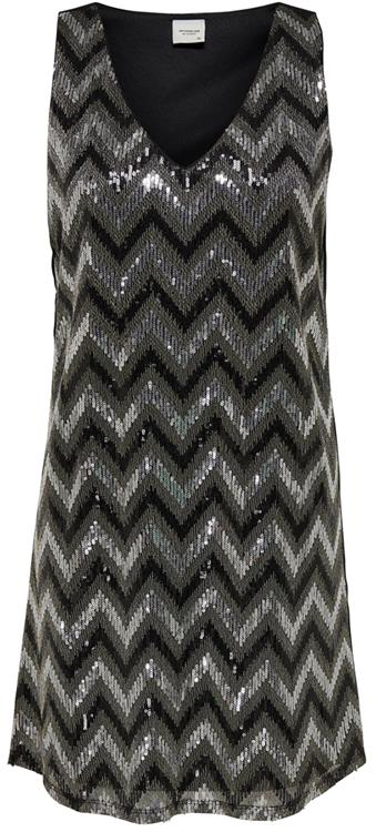 Jdyophelia s/l dress wvn Black/silver SEQ