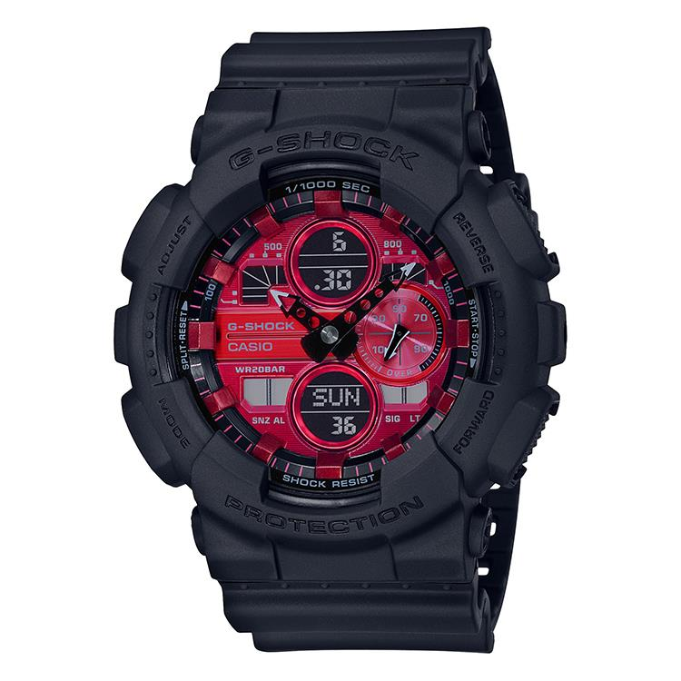 "G-Shock GA-140AR-1AER - Black and Red AR ""Adrenalin Red"" Series"