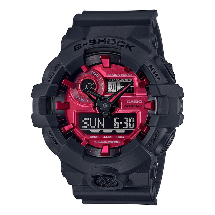 "G-Shock GA-700AR-1AER - Black and Red AR ""Adrenalin Red"" Series"