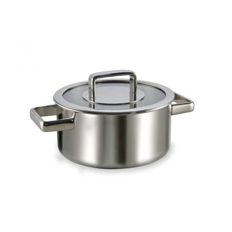 Habonne Royal kookpan met glasdeksel - Ø18 cm